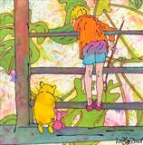 Pooh Sticks 🔴 by Louise Dear, Painting