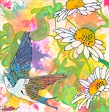 Swallows Swoop by Louise Dear, Painting