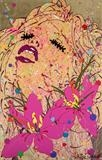 YumYum - lilly the pink! by Louise Dear, Painting