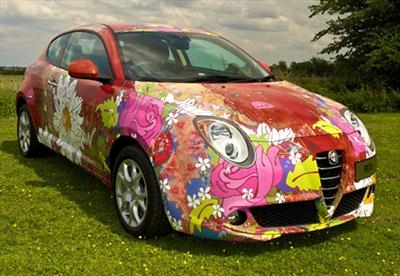 because I can / a wrap commissioned by alfa romeo by Louise Dear, Installation