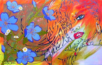 feeling amorous by Louise Dear, Painting